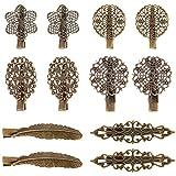Pangda 12 Pezzi Clip per Capelli Vintage Mollette per Capelli Strisce Morsetti Capelli Accessori per Donna e Ragazze, 6 Stili