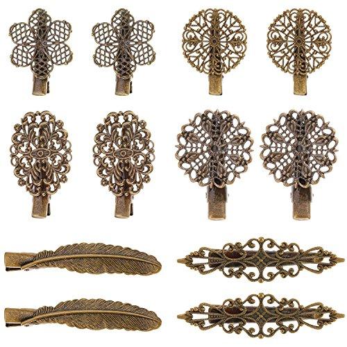 12 Stück Vintage Haarspangen Haarnadeln Haarklemmen Haar Zubehör für Damen und Mädchen, 6 Stil