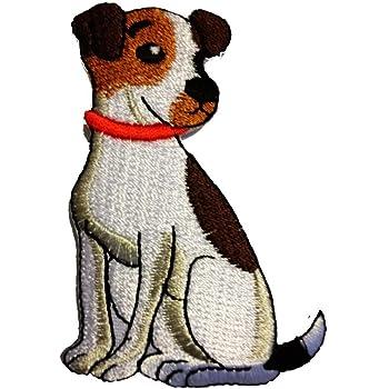 Aufnäher // Bügelbild 8,5 x 8,7 cm braun Applikationen Patches Hund Tier