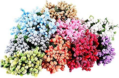 CHIC*MALL Fake Flowers Stamen Home Decoration Flower Berry Artificial -