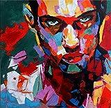 Modern Art Acrylbild - Le visage d'homme - Martin Klein