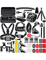 Neewer 50-in-1 Accessori Kit per GoPro Hero Session/5 Hero 1 2 3 3+ 4 5 SJ4000 5000 6000 DBPOWER AKASO VicTsing APEMAN WiMiUS Rollei QUMOX Lightdow Campark e Sony Sport Dv