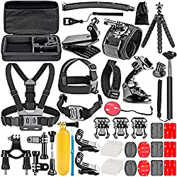 Neewer 50-In-1 Action Camera Accessory Kit for GoPro 8 GoPro Hero 7 6 5 4 Hero Session 5 Apeman DJI OSMO Action SJ6000 DBPOWER AKASO VicTsing Rollei Lightdow Campar