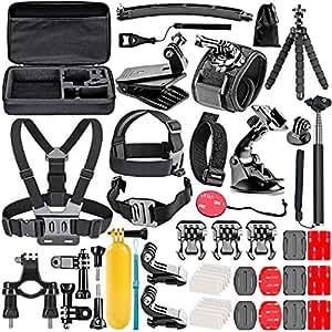 Neewer 10085441, 50in1 Kit di Accessori per fotocamere sportive