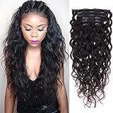 Clip naturel bouclés dans les extensions de cheveux pour les femmes Vague naturelle véritable humaine remy pince à cheveux en Extension pour cheveux afro-américaine pince à cheveux ins 18inch120g