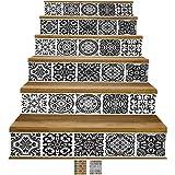 Treppen-Aufkleber von Y-Step, selbstklebend, Renovation, wasserdicht, Wandaufkleber zum selber Anbringen, Vinyl, 6Stück 6,4cm x 36,6cm