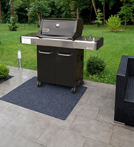 Bbq Grill Matte 120x100 Cm Uni Anthrazit Grillteppich Bodenschutzmatte Matte Teppich Unterlage Fr Garten Terrasse