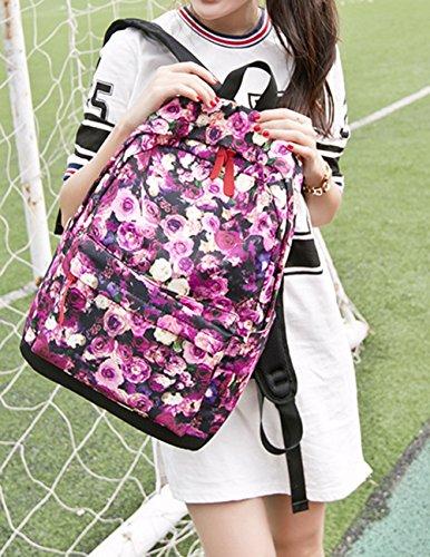 Keshi Leinwand neuer Stil Damen accessories hohe Qualität Einfache Tasche Schultertasche Freizeitrucksack Tasche Rucksäcke Wasser-Blau