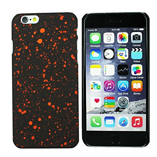 Heartly Night Sky Glitter Star 3D Printed Design Retro Color Armor Hard Bumper Back Case Cover For Apple iPhone 6 Plus 5.5 inch - Vintage Orange  available at amazon for Rs.199