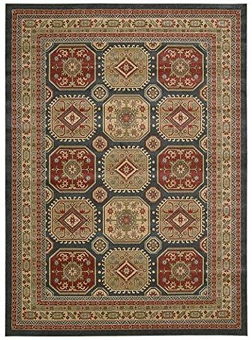 Nourison Teppich Mondrian 99446281517–Midnight maschinell gewebt Teppich, Midnight, 5ft 3Zoll x 7ft 4-Zoll