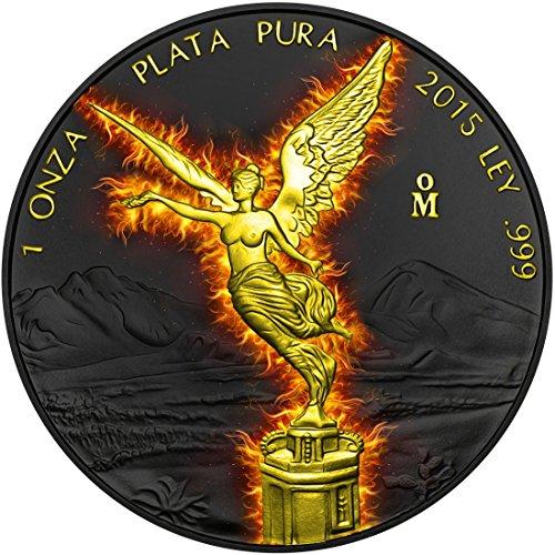 burning-unzen-libertad-silber-ruthenium-vergoldet-medaille-mexiko-2015