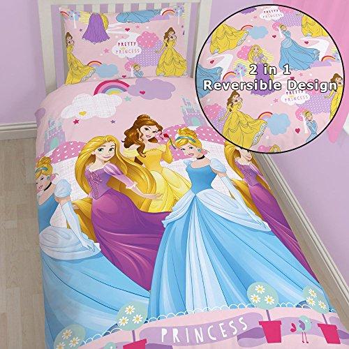 Incantevole Disney Princess, Copripiumino a 1 piazza e federa