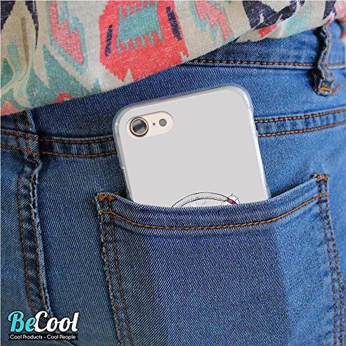 BeCool®- Coque Etui Housse en GEL Flex Silicone TPU Iphone 8, Carcasse TPU fabriquée avec la meilleure Silicone, protège et s'adapte a la perfection a ton Smartphone et avec notre design exclusif. Cha L1336