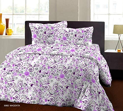 Bombay Dyeing Beeze+ 120 TC Cotton Bedsheet with 2 Pillow Covers - King Size, Pink
