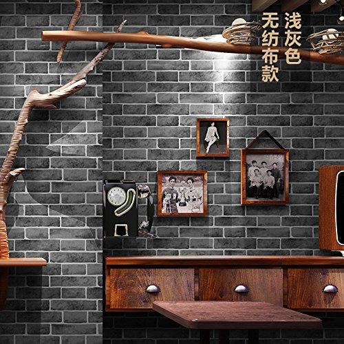 Tkopainsde Retro 3D-Modellierung Brick Brick Brick Wall Paper Cafe Bar Und Restaurant Kultur Stein Red Brick Wall Papier, Vlies Hellgrau (Papier-modellierung)