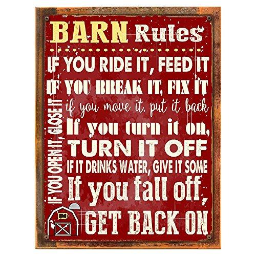 ll Schild, Stabil, rustikalem Dekor, Cowboy, Ranch, Pferde 12