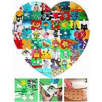 Hochzeitspuzzle Herz zum Bemalen 74 x 72cm - Holz-Puzzle zur Hochzeit lustiges Hochzeitsspiel für Gäste / Brautpaar