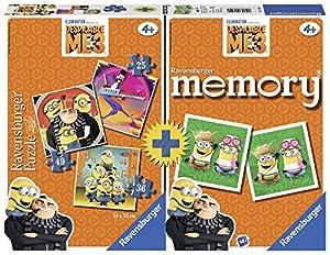 Ravensburger- Minions Multipack Memory + 3 Puzzles, GRU, Mi Villano Favorito (21309)