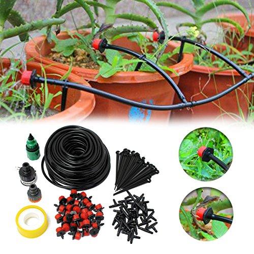 Tofree 25 m Micro Spray Kit Composition 25 m Nouveau Material kapillare, 30 Rouge Réglable Compte-Gouttes, 30 Dripper Charge, 30 T Capillaire Lot DE 1 Prise Robinet + 1 4/6 Mamelon