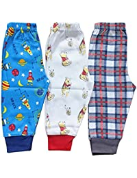 Baby Station Premium Quality Grip Leggings long pant pajama -3 Pack (Assorted Design and color)