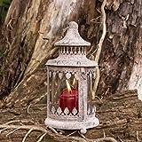 Antikas - Laterne indischen Kolonialstil, Windlicht im Vintagelook, Kerzenhalter aged iron