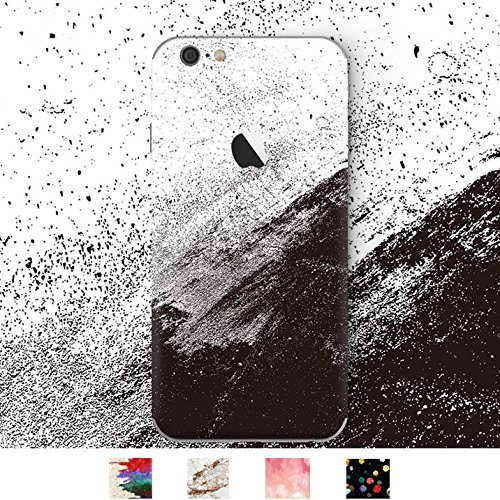 DowBier iPhone Premium 3M Vinyl Aufkleber Haut Aufkleber Wrap Cover für iPhone (iPhone 6/6s, Black and White Ink)
