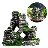 naisicatar Aquarium Dekoration Rock Cottage Cave Stone verstecktem Rock Höhle für Fische Tank