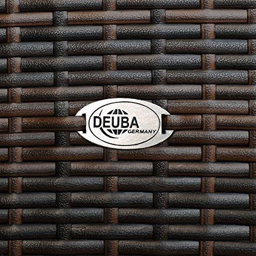 Deuba Sitzgruppe 8+1 aus Rattan (braun) - 8