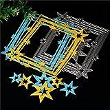 Taglio Dies, Huhuswwbin Fashion fustella cornice portafoto in acciaio Star photo album di arte DIY Craft Mold–argento