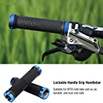 BabyGo (Set of 2) Handlebar Gloves Mountain Bicycle MTB Handlebar Grips Rubber Anti-Slip Handle Grip Cycle (Silver)