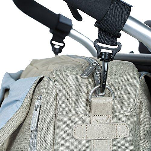 Lässig 1101003303 Wickeltasche Green Label Global Bag Ecoya, sand/beige - 6