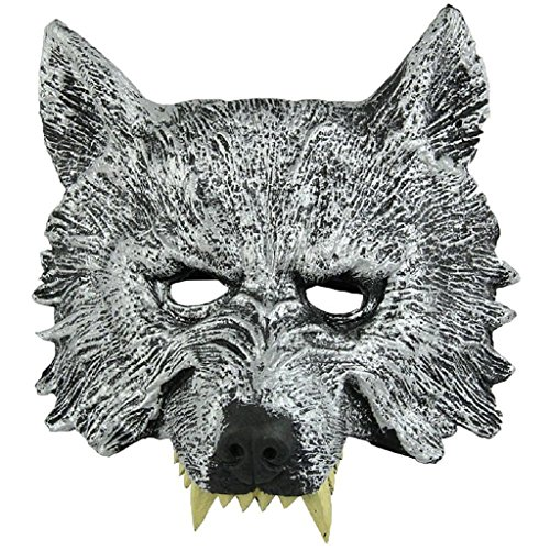 Auspicious beginning Gruselige Wolf-Gesichts-Maskerade für Cosplay Halloween-Tag