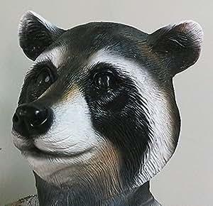 Raccoon Protection Complète Masque Latex Déguisementlacet Halloween Rocket Animal 'The Rubber Plantation tm'