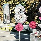 Luftballons 50 Geburtstag XXL Silber - Riesen Folienballon in 2 Größen 40
