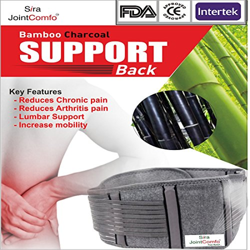 Sira Bambus anthrazit Rücken Gürtel, Schmerzlinderung, Lendenwirbelstütze, Taille Schmerzen, Gelenkschmerzen, Taille Unterstützung, anthrazit Rückenschmerzen Gürtel, Workouts, Gymnastikreifen Relief, Taille Schwellungen, Mobilität Gürtel, Muskeln und Gelenkschmerzen - Bamboo-gürtel