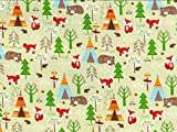 Wald Tiere Print Baumwolle Popeline Stoff