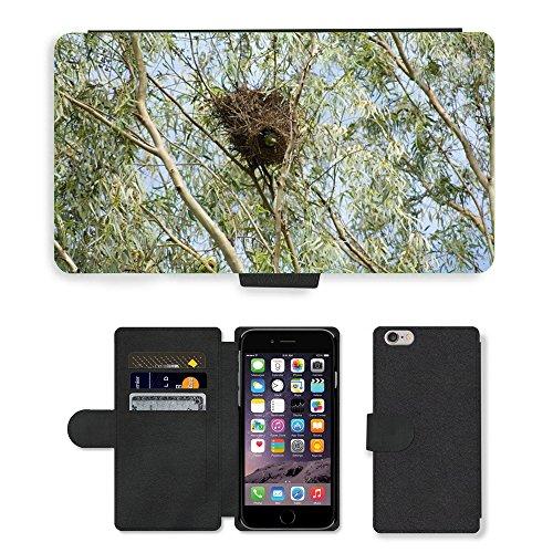 Just Mobile pour Hot Style Téléphone portable étui portefeuille en cuir PU avec fente pour carte//m00139582moine perruche Parrot Arbre Oiseau/Nid/Apple iPhone 6Plus 14cm