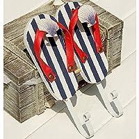 color flip flop Coat hook Wall decoration Coat rack hook up Pendant wall decoration 14.5 * 4 * 22CM