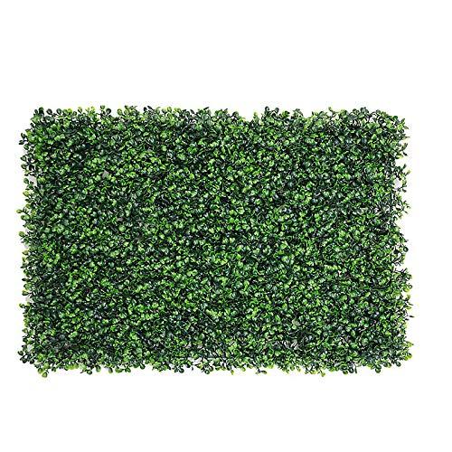 LACKINGONE Künstliche Pflanzen Künstliche Heckenpflanze Grünflächen 24 x 16 Inch Grüne Graspflanze Gefälschte Hängende Reben Anlage für Garten, Hinterhof/Heimdekorationen
