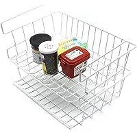 Panier de Rangement sous Tablette, Panier de Rangement en Fil métallique Empilables Panier Suspendu pour Cuisine, Bureau…
