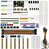 KeeYees Elektronik Lernset Spaßset, Starter Set mit Steckbrett Jumperkabel Stromversorgungsmodul Potentiometer Breadboard LED Taster für Arduino