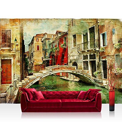Vlies Fototapete 300x210 cm PREMIUM PLUS Wand Foto Tapete Wand Bild Vliestapete - GREAT VENICE -...