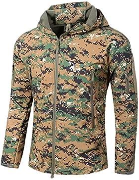 tacvasen Hombre Impermeable Chaqueta De Forro Polar Outdoor Military–Chaqueta Soft Shell Camo, otoño/invierno...