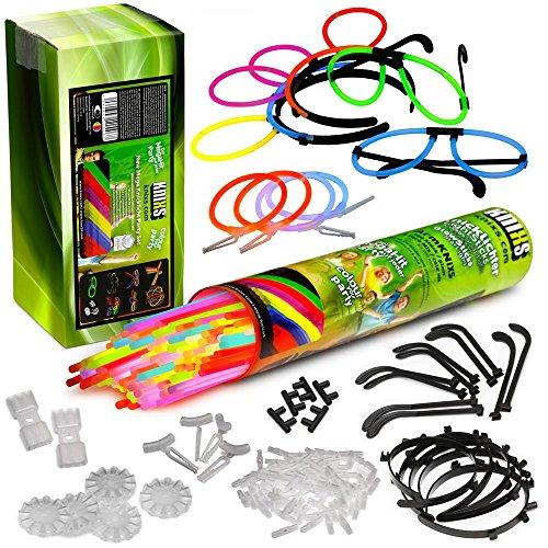 ter Partypack im 6 Farb-Mix (grün, rot, blau, gelb, pink, orange) (Leuchtstäbe Für Die Hochzeit)