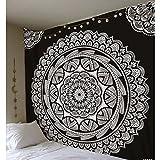 JIAO Tapisserie Tapisserie Dekoration Indische Mandala Kunst Böhmen Hippie Tapisserie Dekorative Stoff Bett Tuch Strand Tuch Polyester DE (Farbe : A, größe : 150x150cm)