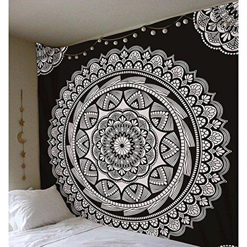 JIAO Tapisserie Tapisserie Dekoration Indische Mandala Kunst Böhmen Hippie Tapisserie Dekorative Stoff Bett Tuch Strand Tuch Polyester DE (Farbe : A, größe : 150x150cm) (Stoff Böhmen)