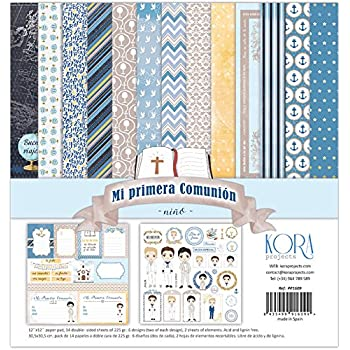 """Pack di 14 carta - Mi Primera Comunione - Bambino, 12 """"X12"""""""