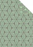 Ibena 2096-700 Jacques Decke Cotton Pur mit GOTS, Grün/Grau