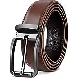 NEWHEY Cintura Uomo Pelle Casual Formali Cinture Uomo Pelle Cintura Confezione Regalo 32mm Nero Marrone