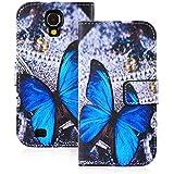 GrandEver Flip Holster Handy Tasche H�lle f�r Samsung Galaxy S4 i9500, Standfunktion und Karten Slot Case, Mode Handy-Taschen f�r Samsung Galaxy S4 i9500 (Schmetterling)